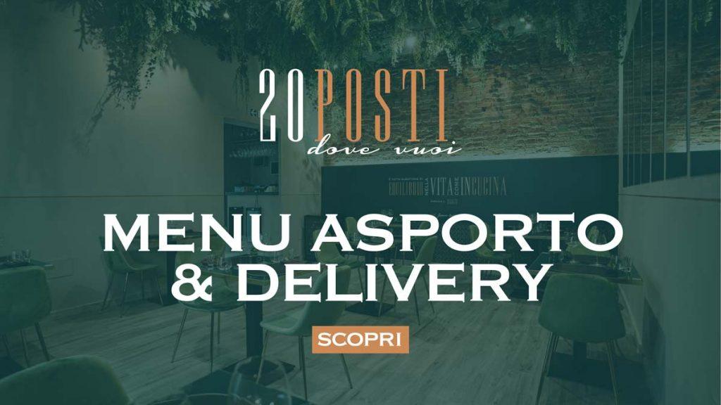 menu da asporto e delivery - 20 Posti